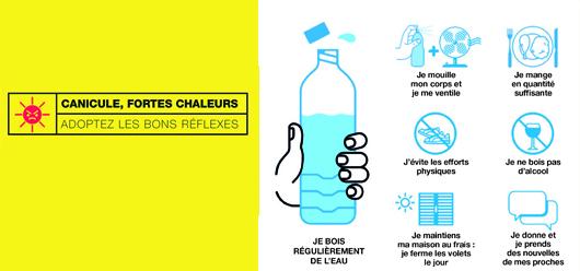 Canicule, fortes chaleurs : adoptez les bons réflexes !